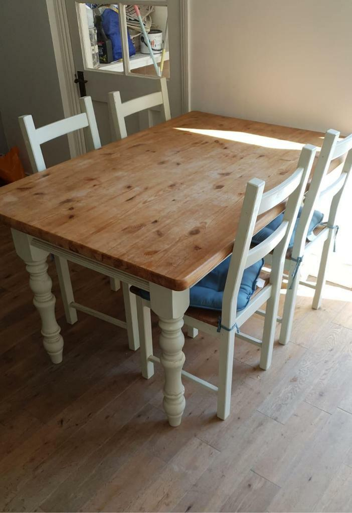 Upcycled Dining Table And Chairs In North Shields Tyne