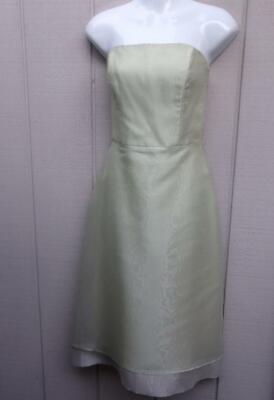 After Six 91947 Light Green Strapless Bridesmaid / Cocktail Party Dress / Sz -