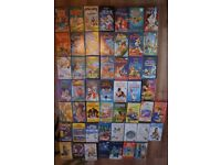 TV VCR Combo and Lots of Children's Videos Disney