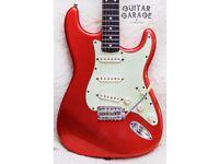 Fender USA American Vintage 62 Tangerine Relic Stratocaster guitar - Custom Shop pickups & hardcase
