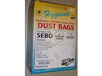 Sebo X4 Vacuum cleaner Bags. Pack of 10. Will fit X4, X1 and other upright models