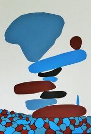 ORIGINAL ARTWORK - Zen Pebbles - Acrylic on box canvas 100(h) x 80(w) cm