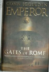 2 x Conn Iggulden Emporer Series Hard Back Books excellent condition Gates of Rome Death of kings