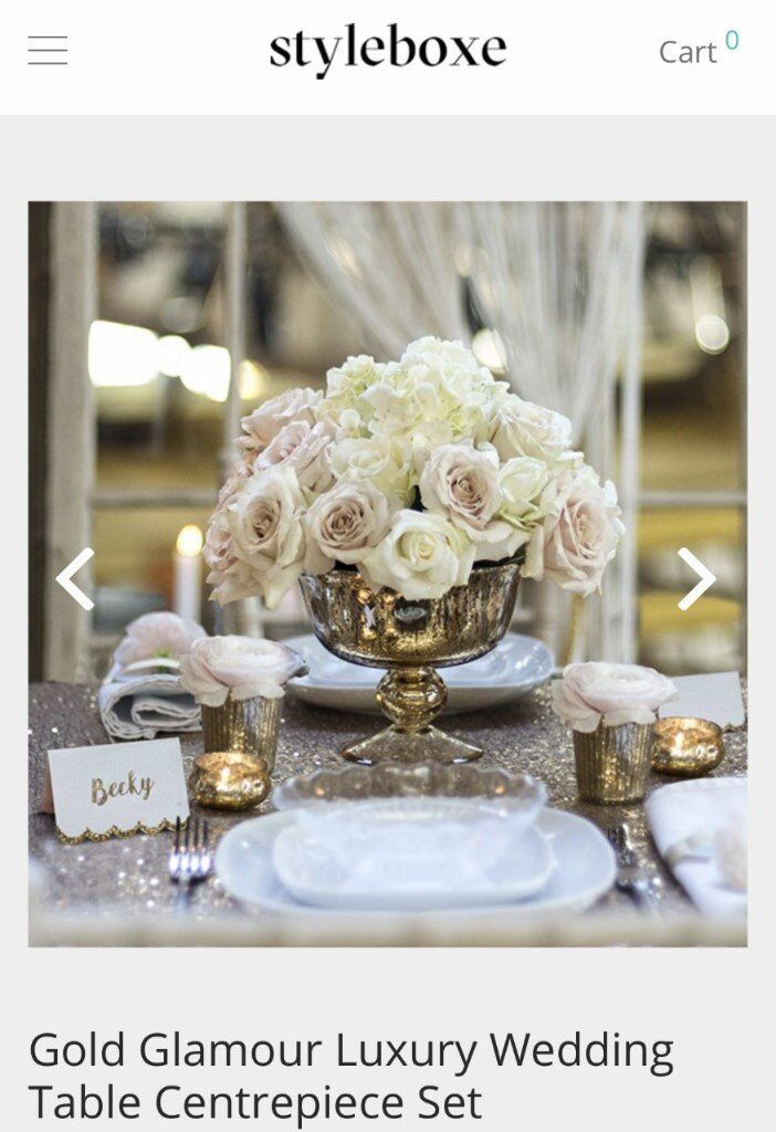 Gold Wedding Centre Pieces Table Decorations