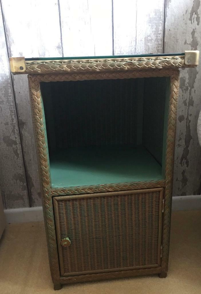 Picture of: Original Lloyd Loom Bedside Cabinet Green Gold In Porthcawl Bridgend Gumtree