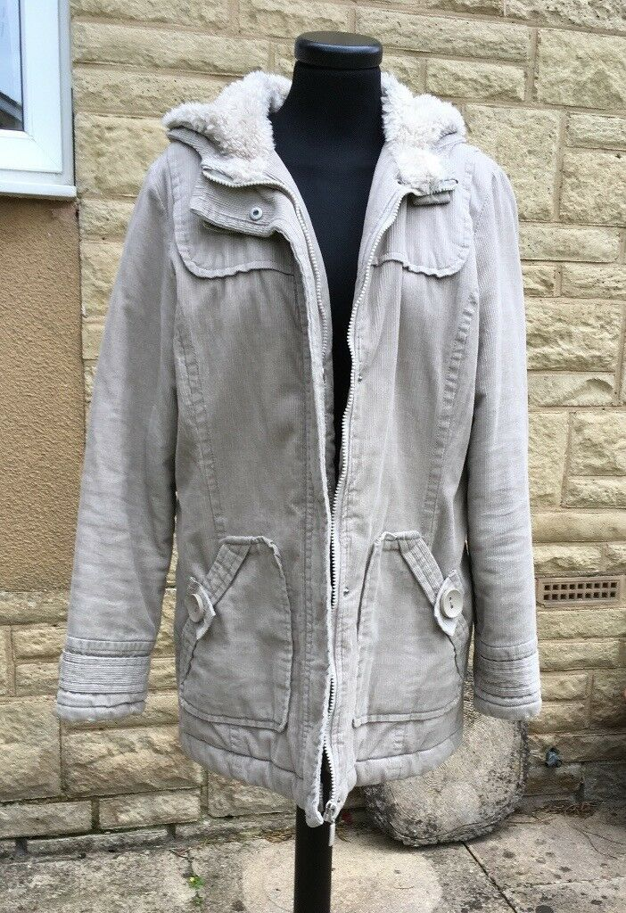 LADIES WARM BEIGE COAT size 14