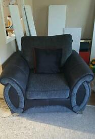 Large two seater and large easy chair