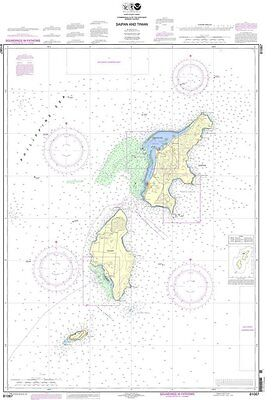NOAA Chart Commonwealth of the Northern Mariana Islands Saipan and Tinian (Saipan Commonwealth Of The Northern Mariana Islands)