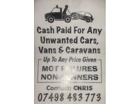 CASH PAID FOR ANY UNWANTED CARS