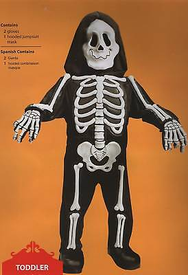 SKELETON INFANT COSTUME 6-12 Months Bones Halloween Boys El Dia de Los Muertos