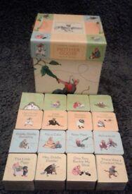 16 x Nursery Rhyme Block Board Books (VGC) - Christening/1st Birthday Gift.