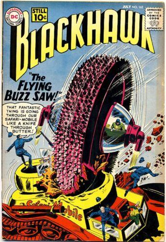 "BLACKHAWK #162 1961 FN ""The Invisible Blackhawk"" BLACKIE Pet HAWK"