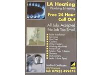 LA Heating and Plumbing 24HR Call Out, Boiler Breakdown, Bathroom, Leaks, Drainage