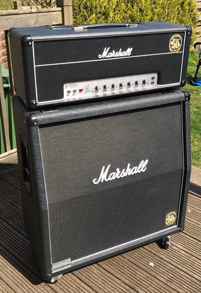 Marshall AFD 100 Slash + Marshall 1960AV Cabinet Guitar Amp ...
