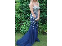 Stunning Navy Jewelled Prom Dress- *Reduced to £200*