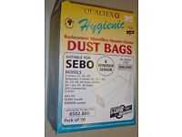 Sebo X4 Vacuum cleaner Bags. Pack of 10 (NEW)