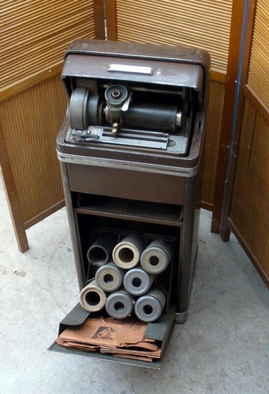 Antique 1930s EDISON Voicewriter Ediphone Wax Cylinder Recording Dictaphone