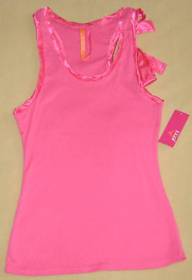 New Jenni Pink Satin Bow or Blue Ruffle Tank Sleepwear Satin Bow Tank