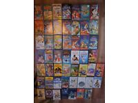 "70+ VHS Videos and 14"" TV VCR combo. Great Titles Including Many Disney Look At Photos"