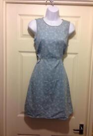 Daisy Print Cut Out Dress
