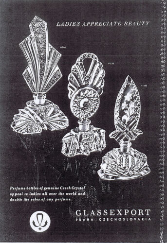 Post-War Czechoslovakian Glass - ads, articles, more