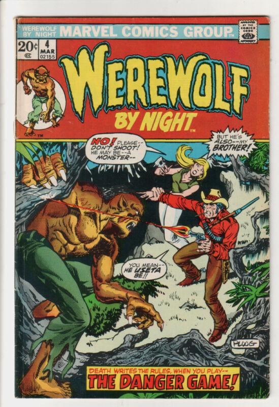 WEREWOLF BY NIGHT #4 (Mar 1973) VG- CONDITION Comic Book