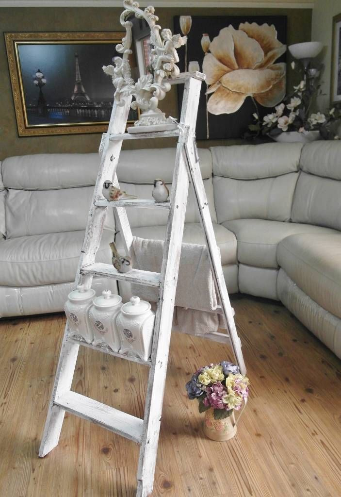 Shabby chic plant ladder