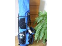 JUNIOR CALLAWAY GOLF CARRY BAG WITH STAND AND DOUBLE SHOULDER STRAPS