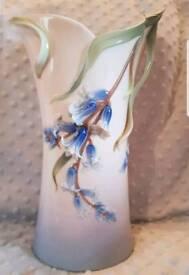 Franz collection large blue bell vase