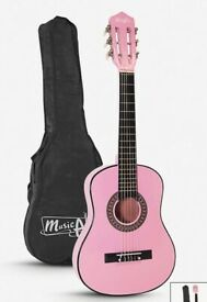 MUSIC ALLEY RRP £35.99 MA-51 Junior Classical Acoustic Guitar - Pink from Curry's