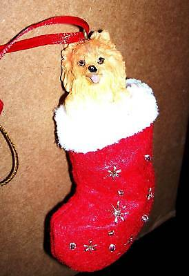 Pomeranian Stocking Dog Holiday Ornament Christmas Dog Christmas Holiday Ornament
