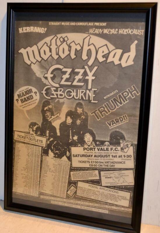 MOTORHEAD OZZY OSBOURNE TRIUMPH 1981 METAL HOLOCAUST CONCERT FRAMED POSTER / AD