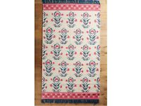 New Anthropologie Amira rug- boho skandi folk style - 4 x 6 - cream red blue black
