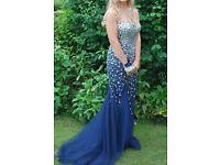 Stunning Jewelled Prom Dress - Navy Blue