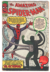 AMAZING SPIDER-MAN #3  Marvel COMIC 1963  1st DR. OCTOPUS - UNGRADED  (Torch)