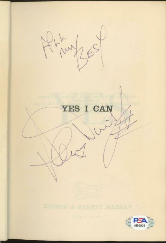 """SAMMY DAVIS JR. signed """"Yes I Can"""" book - NOT PERSONALIZED! - PSA/DNA autograph"""
