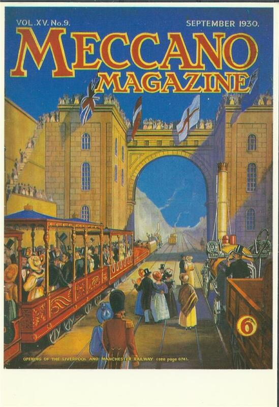 Postcard Meccano magazine Factory First Liverpool Manchester Railway British GB