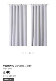 Ikea Vilborg long heavy curtains- perfect condition