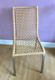 Wicker Style Dining Chairs x 4
