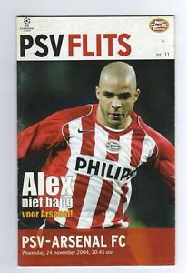 Orig-PRG-Champions-League-04-05-PSV-EINDHOVEN-ARSENAL-LONDON-RARE