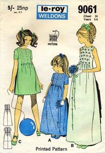 Bridesmaid-Flowergirls-Dress-5-6-years-Vintage-Sewing-Pattern-Le-Roy-9061