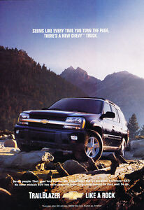 2002-Chevrolet-Trailblazer-Truck-rock-Classic-Vintage-Advertisement-Ad-H21