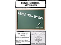 English Lessons in Nottingham - All ages, All levels