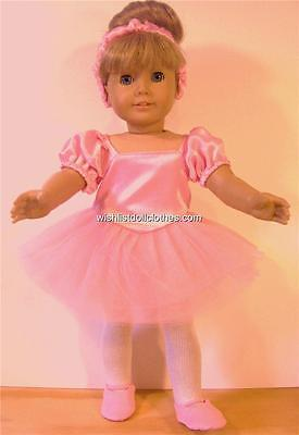 "Ballet Dress Outfit fits 18"" American Girl Doll Clothes 3 PIECES * FREE SHIP on Rummage"