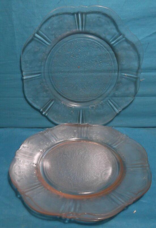 "4 MACBETH-EVANS American Sweetheart Pink Depression Glass 8"" Salad Plates"