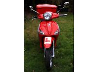 2014 Piaggio Liberty 125 Moped Scooter - Red - New MOT - 5,500 miles - Top Box