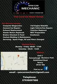 Car mechanic repairs