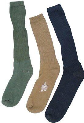 USOA ANTI-MICROBIAL BOOT SOCK 3 Pair Black/OD/Tan/Coyote Military Socks Coyote Nylon Boot