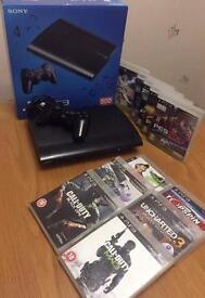 PS3 super slim 500gb +1 controller +11games