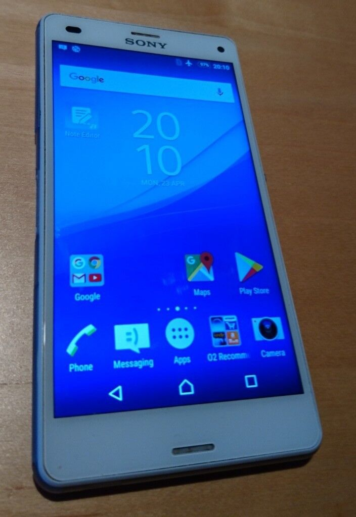 Sony Z3 Compact 16Gb unlocked mobile +case +more, great condition - professionally CHECKED